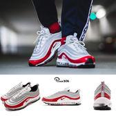 Nike Air Max 97 銀 紅 紅子彈 經典 漆皮 復古慢跑鞋 氣墊 反光 男鞋 【PUMP306】 921826-009