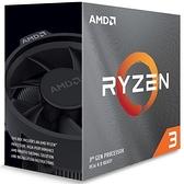 AMD Ryzen 3 3300X R3-3300X 4核8緒處理器 100-100000159BOX