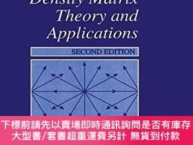 二手書博民逛書店Density罕見Matrix Theory And Applications (physics Of Atoms
