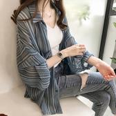 DE shop - 中長版雪紡襯衫薄外套 - XA-3677