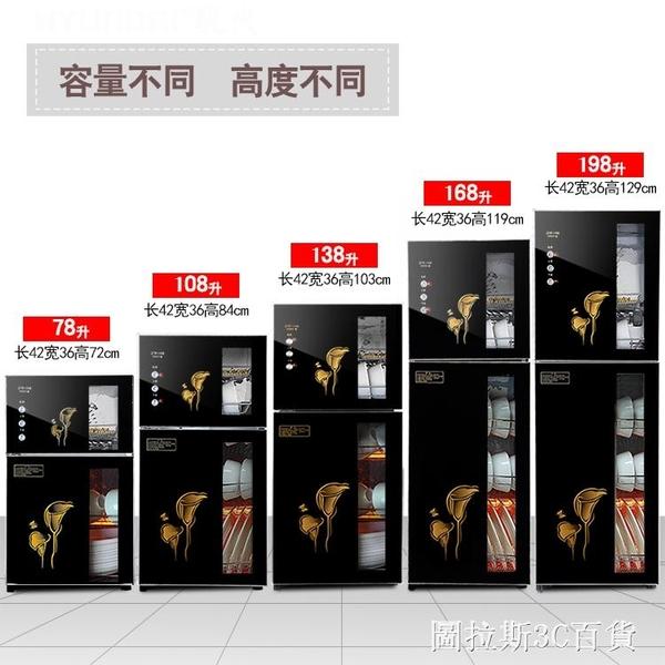 美容院消毒櫃消毒櫃商用不銹鋼消毒櫃立式雙開門長方形烘碗機分層 圖拉斯3C百貨