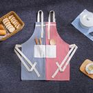 圍裙 - 圍裙時尚簡約防油做飯圍腰廚房成...