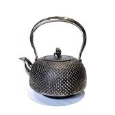 日本砂鐵壺南部鐵器【成龍堂 齊峰 及川齊】平南部型 霰 玉珠 2.0L稀有手工砂鐵壺 頂級茶壺