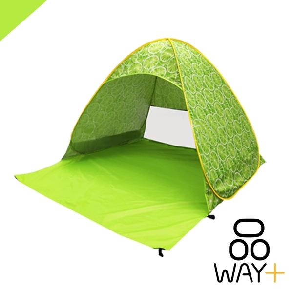 「全家限今日299免運」檸檬 西瓜 香蕉款 秒開帳篷 全自動帳篷 戶外 露營 遮陽 贈地釘【B00056】