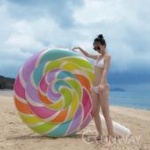 巨大棒棒糖浮床 彩虹棒棒糖 造型泳具 大型泳圈 浮板 充氣玩具 直播小物 游泳圈