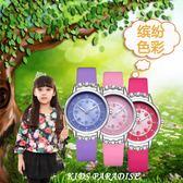 兒童手錶女孩防水中小學生可愛時尚女童電子錶小孩果凍清新休閒錶  初語生活館