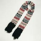 民族風針織棉圍巾【個性黑】 N012 韓版 羊絨 混毛料【Vogues唯格思】