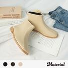 短靴 簡約壓線方頭短靴 MA女鞋 T5195