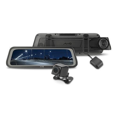 送32G卡+手機支架『 Mio MiVue R76T 』行車記錄器/星光級全屏觸控式電子後視鏡+GPS測速器/前後雙鏡頭