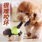 狗狗玩具小狗磨牙耐咬發聲泰迪柯基幼犬玩具球解悶神器寵物用品【櫻田川島】