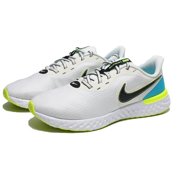 NIKE 慢跑鞋 REVOLUTION 5 EXT 白 輕量 馬拉松 運動 男(布魯克林) CZ8591-102