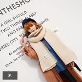 圍巾 邊框撞色  針織 兩用披肩 保暖圍巾 長款 190*35CM【HJH603】 icoca