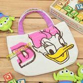 迪士尼手提袋英文字母唐老鴨黛西黛絲手提袋收納袋便當袋餐袋 袋托特包COCOS DK280