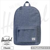 Herschel 後背包  藍色布蕾  經典後背包  Classic-1570   MyBag得意時袋