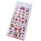 Kamio 造型鐳射光貼紙組 裝飾貼 手帳貼 迪士尼 米奇米妮 甜點 紅_KM23918