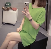 韓版針織連身裙中大尺碼XL-4XL新款春夏針織連身裙R66.6472愛尚布衣
