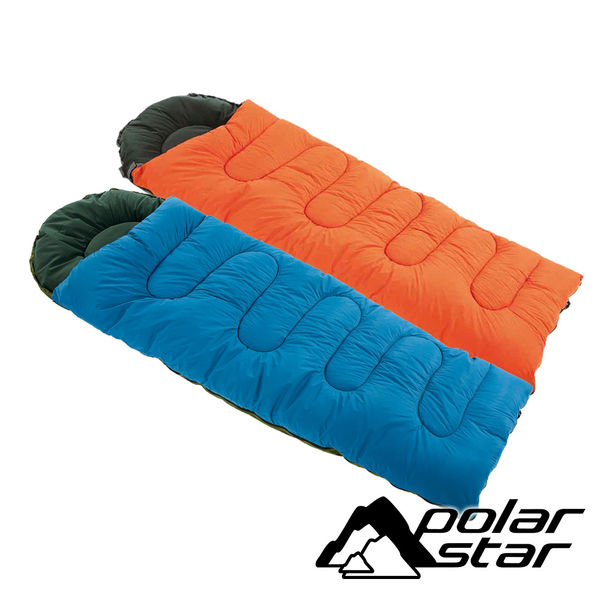 PolarStar 台灣製 加大型纖維睡袋 (SGS檢驗 耐寒度 -12~7°C) 可水洗/YKK拉鍊 戶外 登山 露營 P16730