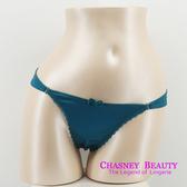 Chasney Beauty-緞面S-L鑲鑽丁褲(湖水綠)+贈臀腰褲帶
