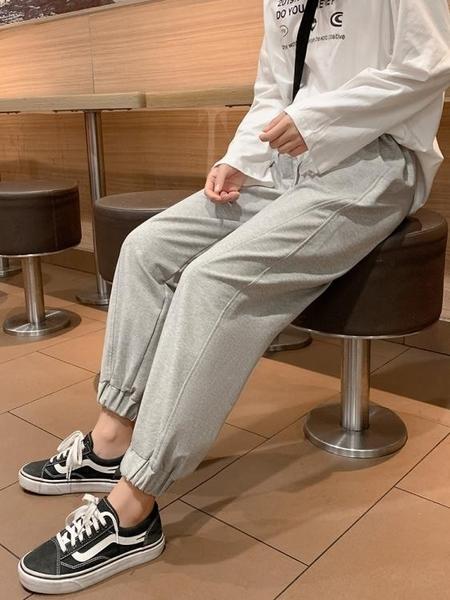 灰色運動褲女夏薄款寬鬆束腳哈倫垂感顯瘦百搭休閒ins潮燈籠衛褲 【ifashion·全店免運】