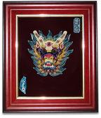 鹿港窯-交趾陶居家開運裝飾壁飾~M歡喜龍王