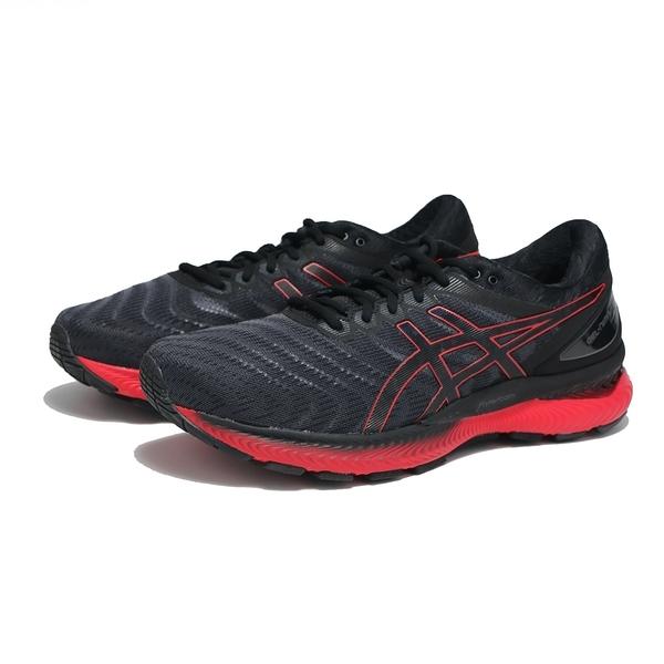 ASICS 慢跑鞋 GEL NIMBUS 22 黑紅 亞瑟士 避震 高緩衝 回彈 耐磨 男 (布魯克林) 1011A680003