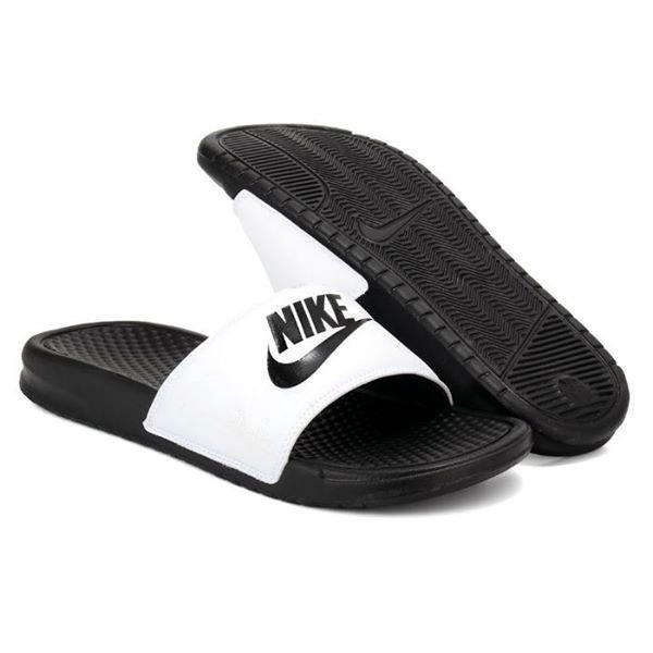 *NIKE BENASSI JDI 拖鞋 運動拖鞋 基本款 白黑 男女尺寸 343880-100