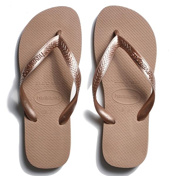 HAVAIANAS 哈瓦仕 人字拖 TOP 基本款 古銅金 拖鞋 女 (布魯克林) 40000293581U