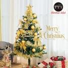 摩達客耶誕-4尺/4呎(120cm)特仕幸福型裝飾綠色聖誕樹 (金色年華)含全套飾品不含燈/本島免運費