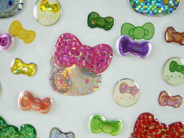 【震撼精品百貨】Hello Kitty 凱蒂貓~KITTY立體貼紙-35TH