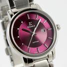 【萬年鐘錶】日系SIGMA經典 女錶  黑x紫色  30mm  1122L-5