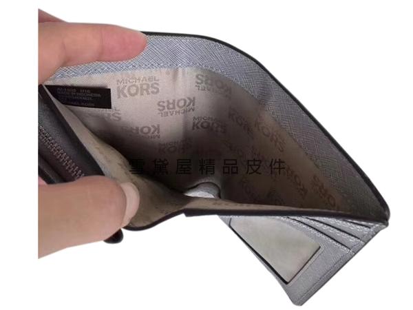 ~雪黛屋~MK 中夾國際正版保證進口防水防刮皮革L型拉鍊+二折皮帶釦主袋附品證盒防塵套品牌提袋
