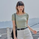 T恤 素面彈性質感短袖T恤PV0024-創翊韓都