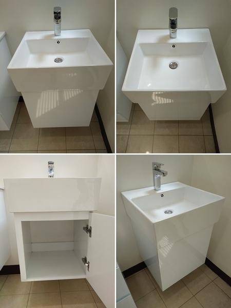 *店長推薦*衛浴6件套組~馬桶+臉盆浴櫃+水龍頭+淋浴龍頭+放衣架+鏡子~年前小資翻修就選這套!