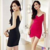 洋裝連身裙 女裝 性感 深V 修身 顯瘦 包臀 吊帶 連衣裙 洋裝