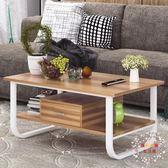 茶几歐意朗茶几現代簡約茶几桌客廳邊桌小戶型簡易沙發邊几組裝小角几 XW