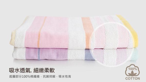 里和Riho LOVEL日系簡約配色條紋雙面棉紗毛巾 34x74cm 2色可選  哺乳巾 口水巾 紗布巾