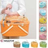 【培菓寵物48H出貨】日本IRIS《寵物外出仿藤型提籃》多種顏色 MPC-450‧摩托車可放