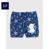 Gap x Disney女嬰幼童 迪士尼系列 印花休閒短褲 487372-淺藍色