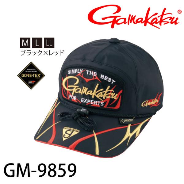 漁拓釣具 GAMAKATSU GM-9859 黑 / 紅 #LL [帽子]