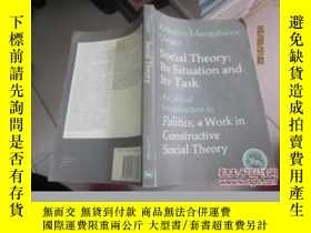 二手書博民逛書店Social罕見Theory:Its Situation and