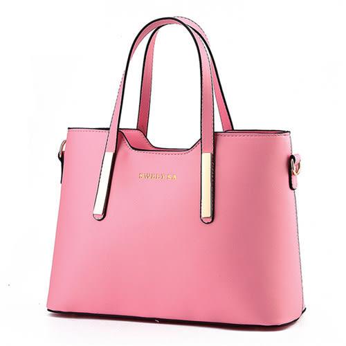 【現貨】 (附肩背帶) 女包包 手提斜背包 sweet簡約時尚金屬裝飾側背托特包包A835