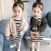 女童裝休閒毛衣開衫秋裝新款兒童針織衫小童寶寶外套1-2-3歲4『櫻花小屋』