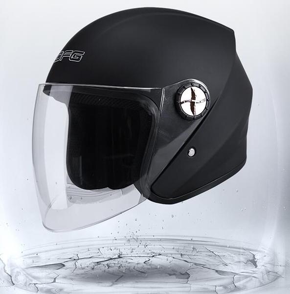 機車安全帽四季通用半盔半覆式安全帽