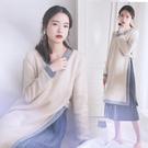 孕婦裝 孕婦秋裝新品連身裙好康推薦時尚款寬鬆秋季孕婦裙兩件式組潮媽長裙女