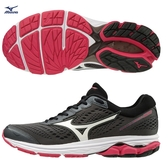 MIZUNO WAVE RIDER 22 女鞋 慢跑 多功能 避震 耐磨 透氣 黑 白【運動世界】J1GD183171