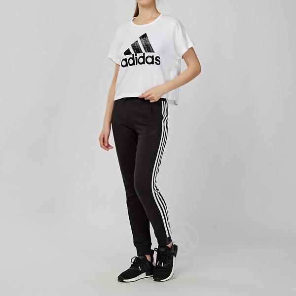 Adidas Essentials 女款 黑色 三條線 運動 棉褲 長褲 FI9274