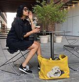 ■專櫃55折■全新真品■Balenciaga 544309 大款小羊皮 PUPPY LOVE 小狗圖騰購物包