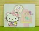 【震撼精品百貨】Hello Kitty 凱蒂貓~卡片-鳥籠(S)