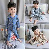 秋裝新款男童寶寶套裝家居服套嬰幼兒睡衣1234歲