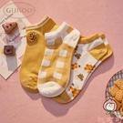 3雙 短襪透氣女襪潮可愛短襪女船襪防掉跟襪【桃可可服飾】